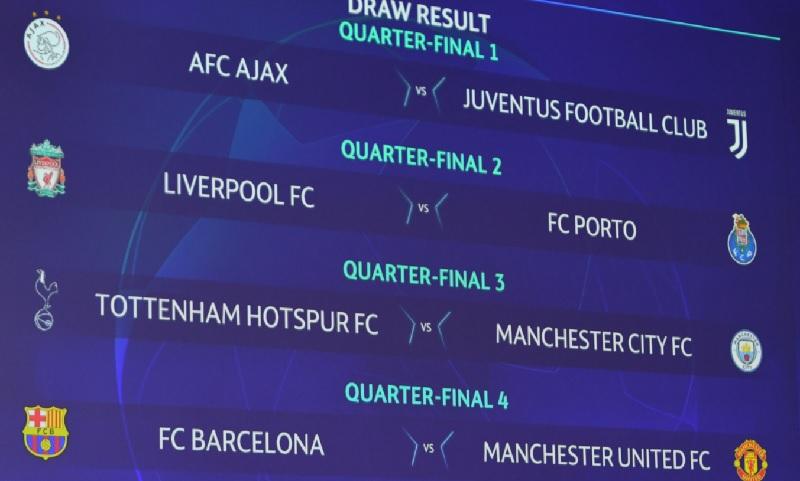 Så spelas Champions League kvartsfinalerna 2019