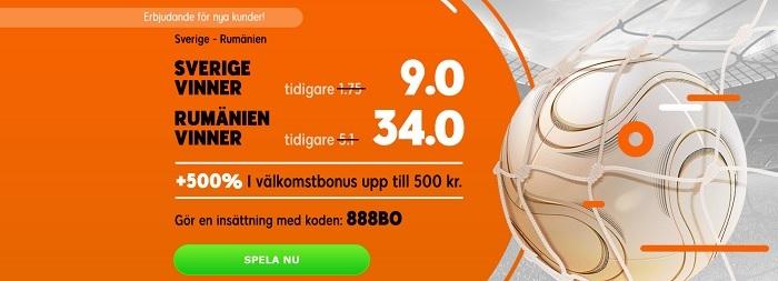 sverige-rumänien 888sport