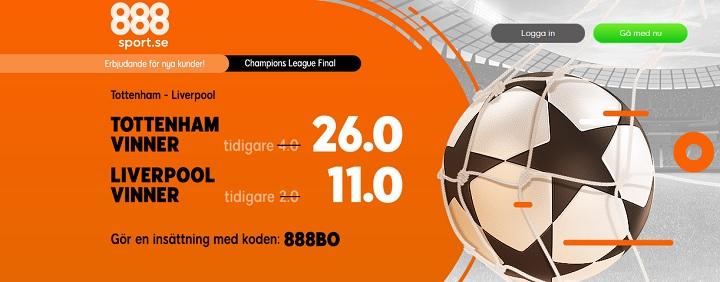 Odds Champions League finalen 2019 + Erbjudanden
