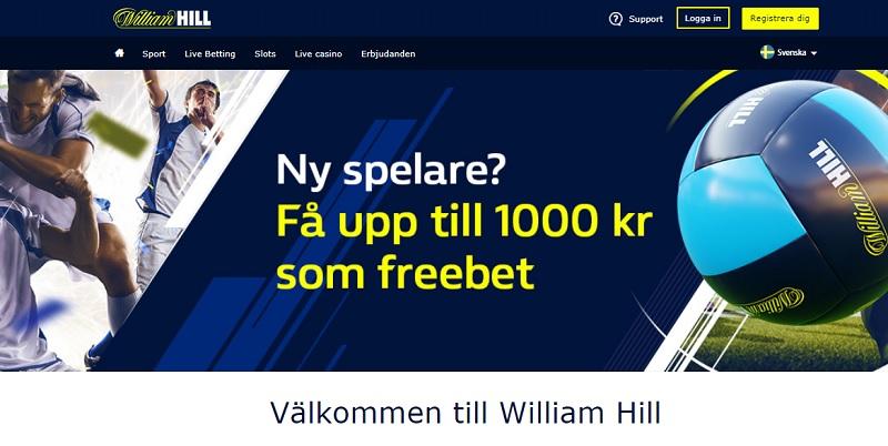 William Hill nu med svensk spellicens