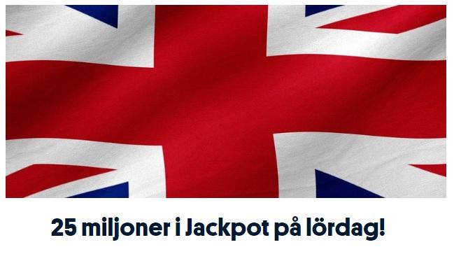 25 miljoner i jackpott på Styktipset 30 nov 2019