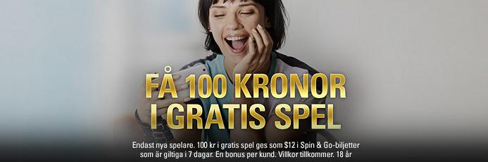 Pokerstars ger alla nya spelare 100 kr gratis att spela med.