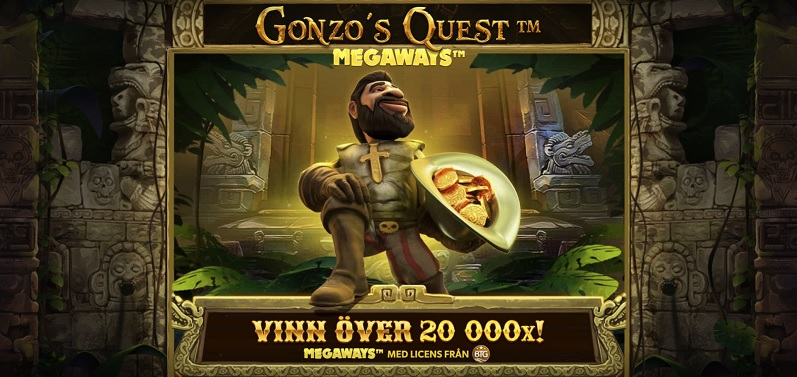 Gonzo's Quest Megaways med chans på 20.000 ggr insatsen