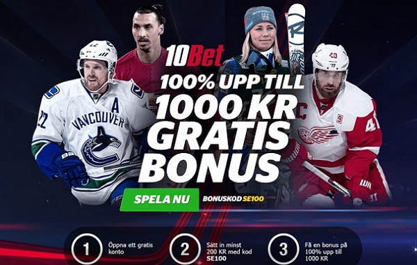 Exklusiv 10bet bonus på 1000 kronor
