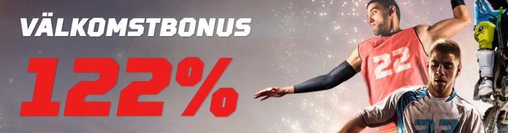 22Bet nytt spelbolag med 122% oddsbonus