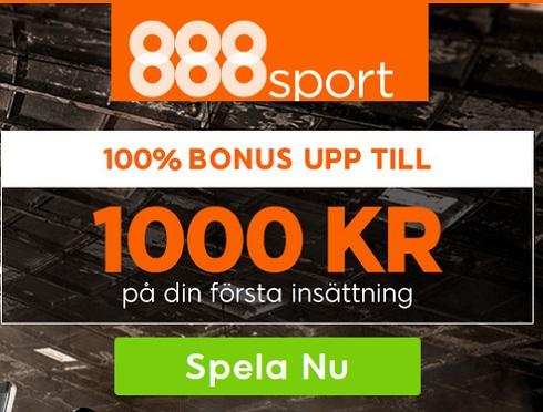 Ny 888Sport oddsbonus på 1000 kronor