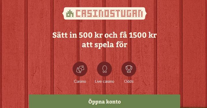 Casinostugan oddsbonus på 1000 kr