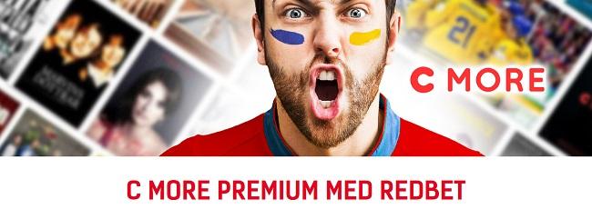 En månad gratis C More Premium från Redbet