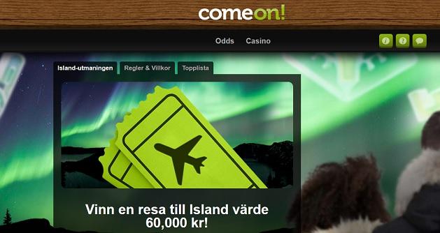 Vinna resa till Island med Comeon!
