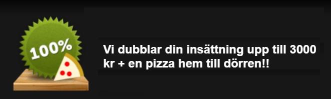 Comeon ger en Pizza till alla nya spelare