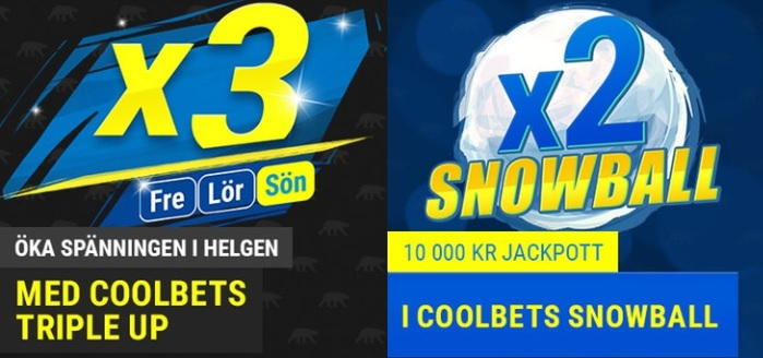 Coolbet Snowball och Triple Up