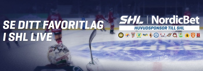 Få två SHL biljetter gratis från Nordicbet
