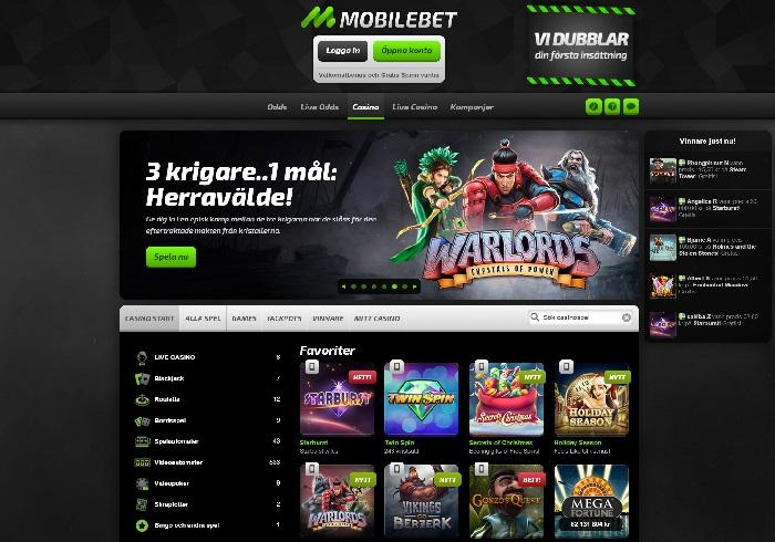 Mobilebet casinobonus