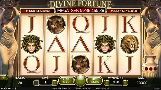Ny NetEnt spelautomat med jackpott - Divine Fortune