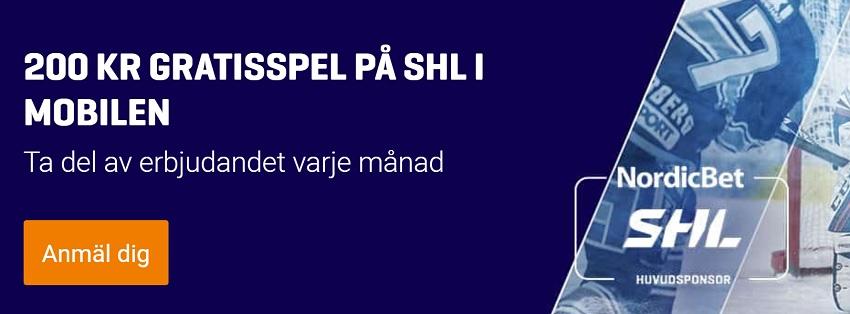 Nordicbet odds erbjudande på SHL 2017 premiären