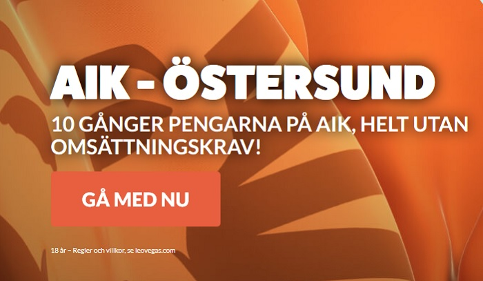 Oddsboost AIK mot Östersund 14 maj 2018