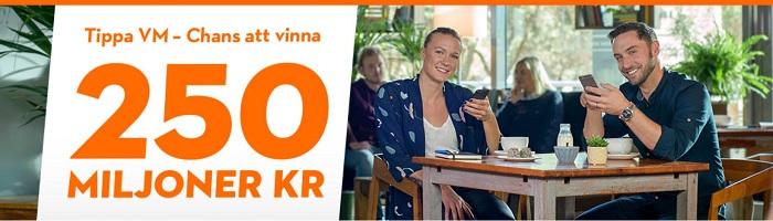 Tippa VM hos Betsson och vinn 250 miljoner kr