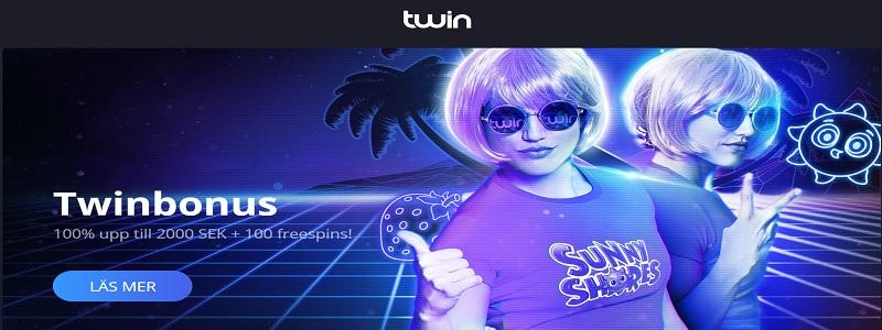 Twin Casino - Nytt casino med bra välkomstbonus till nya spelare