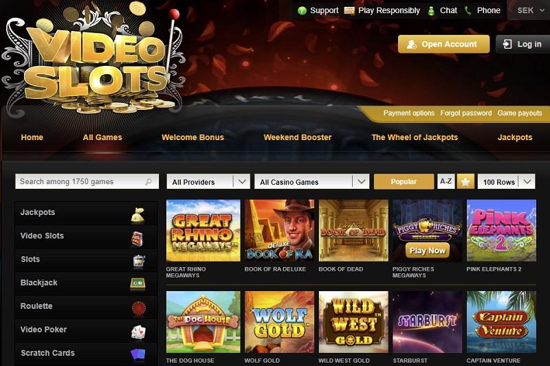 Videoslots casino bonus